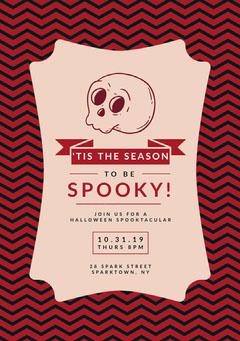 Spooky Season Skull Halloween Party Invitation Halloween Party Invitation