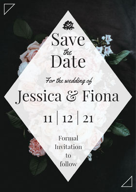 Date Save the date-kort