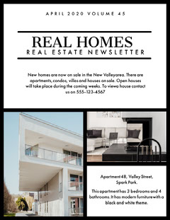Real Estate Newsletter House For Sale Flyer