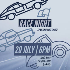 Race Night Game Night Flyer