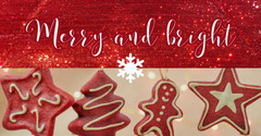 Red Gingerbread Cookie Merry Christmas Instagram Social Post Graphic Christmas