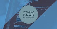Nicholai Kolsark<BR>Web Programmer Blue
