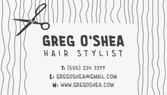 Black and White Hair Stylist Business Card Hair Salon