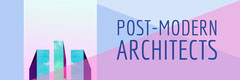 Pink and Blue Architecture Firm Twitter banner Architecture