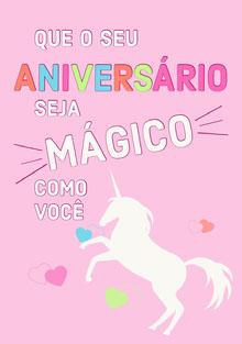 magical unicorn birthday cards  Cartão de aniversário