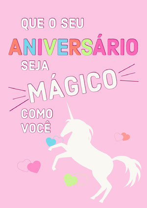 magical unicorn birthday cards  Convite de aniversário de unicórnio