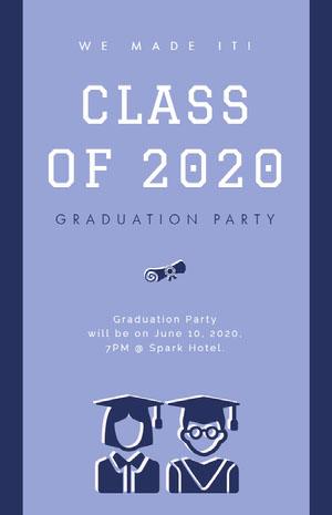 CLASS OF 2020 Cartão de graduação