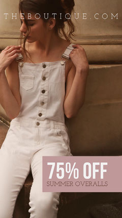 75% OFF<BR>Summer Overalls Clothing