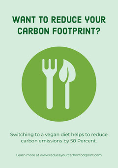 Green and Blue Illustrated Vegan Diet Flyer Vegan