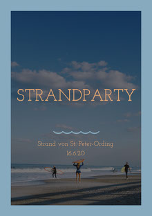 STRANDPARTY Einladung