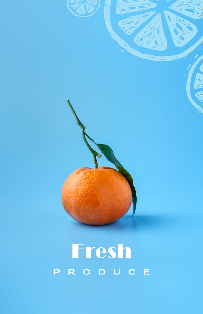 fresh produce poster Ideas de volantes