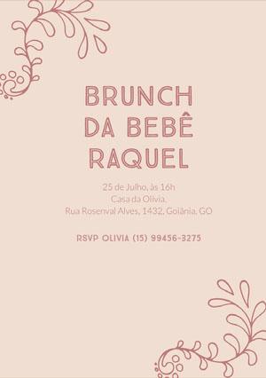 baby brunch baby shower invitations  Convite para chá de bebê