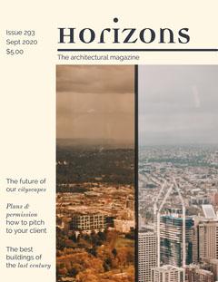 Cityscape Photos Architecture Magazine Cover  City