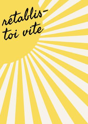 sun shine get well soon cards Carte de bon rétablissement