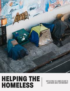 Helping the homeless Flyer Instagram Flyer