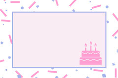 Pink Birthday Name Tag with Sprinkles and Cake Cakes