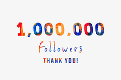 Colorful 1 Million Followers Announcement Youtube Thumbnail Thank You Poster