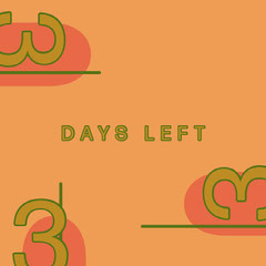 Orange Countdown Teaser Instagram Square Countdown
