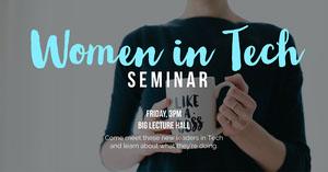 Dark Toned Woman in Tech Seminar Facebook Cover Portada de Facebook