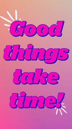 Pink Gradient Quote Animated Instagram Story  Typography