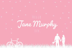 pink hearts valentines name tag Couple