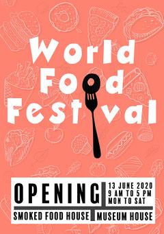 Orange World Food Festival Flyer Food Flyer