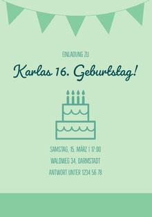 Karlas 16. Geburtstag! Einladung