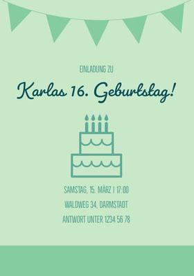 Karlas 16. Geburtstag! Einladung zum Geburtstag