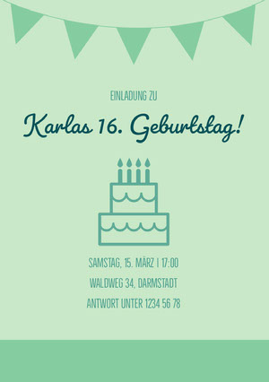 Karlas 16. Geburtstag! Einladung zur Party