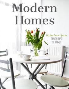 White Kitchen Modern Homes Magazine Cover Magazine Cover