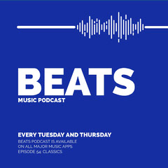 Blue and White Music Podcast Ad Instagram Post Music