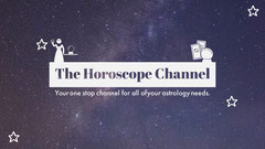 Night Sky Horoscope Youtube Channel Art Galaxy