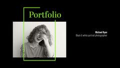 black white green portrait photography portfolio cover widescreen Black And White