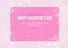 Pink Floral Valentine's Day Party Card Valentine's Day