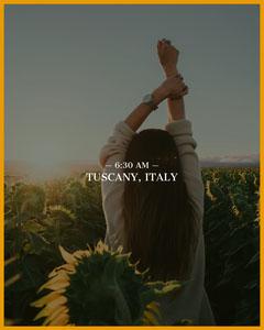 Dark Toned Morning in Italy Instagram Portrait Italy