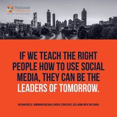 If we teach the right people how to use social media, they can be the leaders of tomorrow. Social Media Flyer