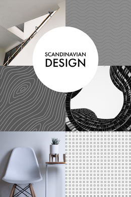 Black and White Scandinavian Design Collage Montage photo