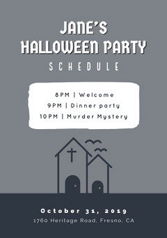 Halloween Murder Mystery Party Schedule Halloween Party Schedule