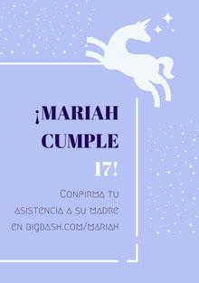 white stars unicorn birthday cards  Tarjeta de cumpleaños