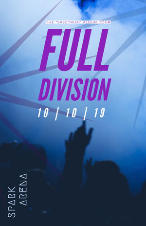 Full Division Concertposter