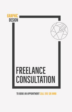 Graphic Design Consultation Poster Designer
