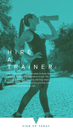 HIRE <BR>A<BR>TRAINER Gym