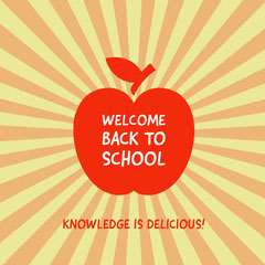 WELCOME<BR>BACK TO<BR>SCHOOL Welcome Poster