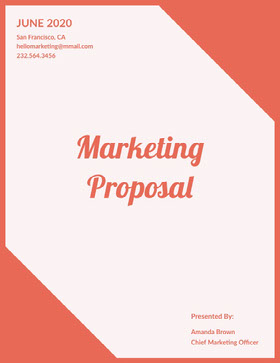 Orange Marketing Business Proposal Proposal
