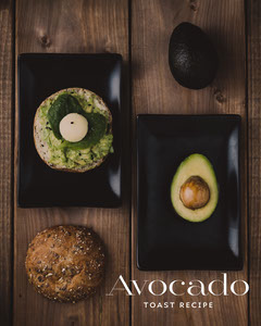 avocado toast recipe instagram portrait Portrait