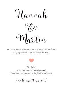 minimal wedding cards  Tarjetas de agradecimiento de boda