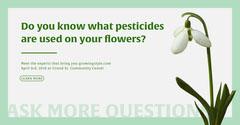 Pale Green Pesticides Seminar Facebook Ad Seminar Flyer