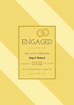 Yellow Engagement Party Invitation Card Couple