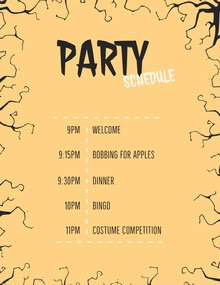 Witch Graveyard Halloween Party Schedule 行程表