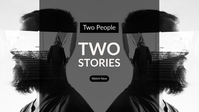 Black and White Two Stories Banner  Ideas de banner YouTube